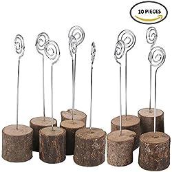 Meseros de boda - madera y metal - (10unidades)