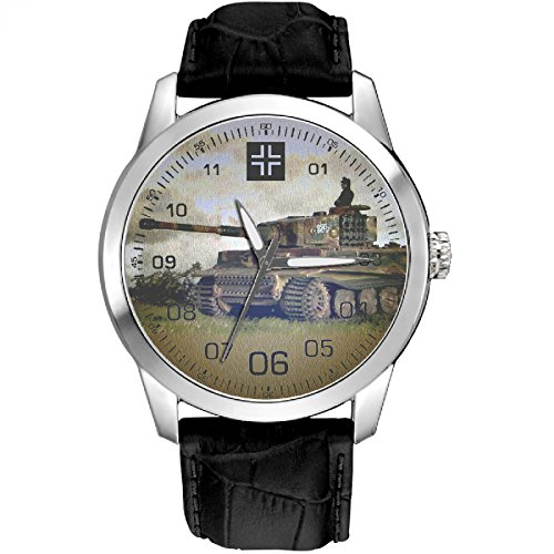 Panzer Kampfwagen vi Tiger Tank importante ww-ii Germania Wehrmacht Art orologio da polso