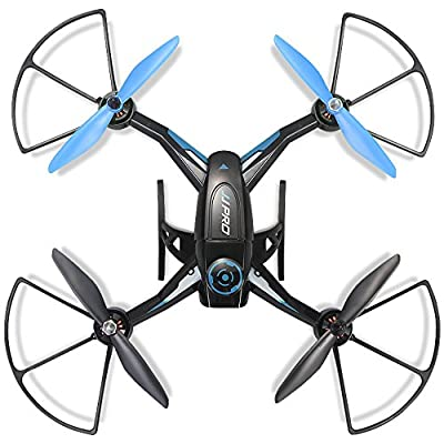 Dewang Remote Control Quadcopter 2.4GHz 4 Channels RC Drone with Night LED Brushless Motor - 15mins Long Flying Time - Blue from Dewang