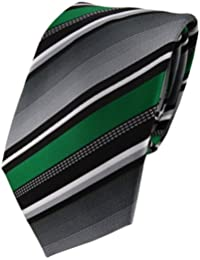 TigerTie Designer Krawatte gestreift - 8 cm Krawatte in verschiedenen Farben