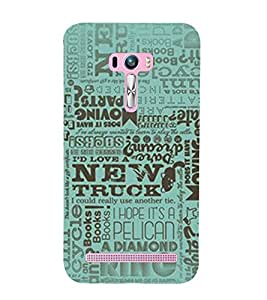Quotes design Back Case Cover for Asus Zenfone Selfie::Asus Zenfone Selfie ZD551KL