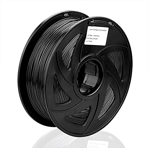 1 Packung 3D Drucker PLA 1.75mm Printer Filament - Mit Spule 1kg (Schwarz)