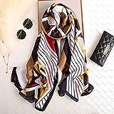 ALPNXZ Foulard Donna Sciarpe di Seta delle Donne di Estate della Protezione Solare Sciarpe di Seta di Hijabs per Signora Pashmina Femme
