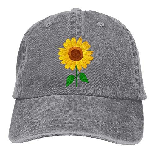 Presock Interesting Sunflower Cowboy Caps Unisex Adjustable Trucker Baseball Hats Gray Sox Mlb-snap
