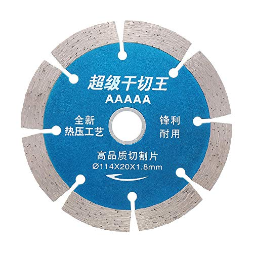 GIlH Drillpro 114x20mm Diamond Saw Blade Diamond Grinding Wheel for Cutting Concrete Granite (Tile Saw Blade 10)