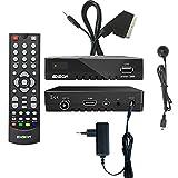 Edision proton T265 Full HD Hybrid DVB-T2 Kabel-Receiver FTA HDTV DVB-C/DVB-T2 H.265 HEVC inkl. Scart Adapter Kabel