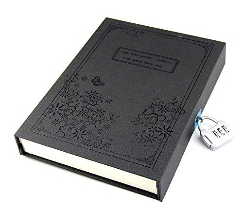 Vintage Red Tagebuch-Notizbuch Journal Notizbuch Hardcover mit Codeschloss Geschenkkarton schwarz