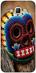 Snoogg Beaded Skull Designer Protective Back Case Cover For Samsung Galaxy Gr...