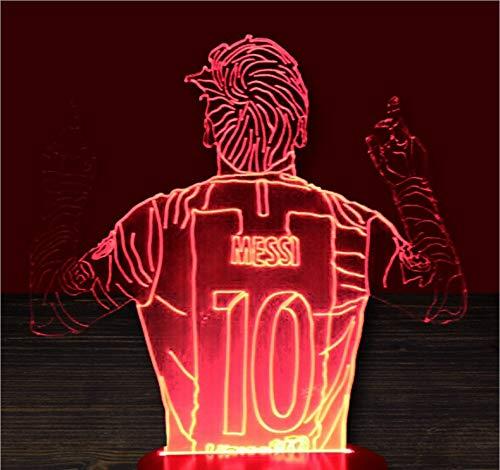 Nr. 10 Athlet 7 Color 3D Night Light USB-Schnittstelle Creative Visual Light Touch Art Light