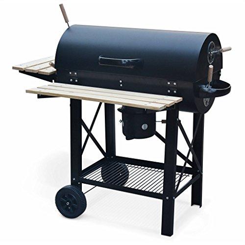 Alice's Garden - Barbecue Américain Charbon de Bois - Serge Noir - Smoker Américain avec...