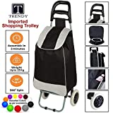 TRENDY Shopping Trolley Best Vegetables and Grocery Foldable Cart with Bag and Wheels