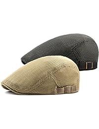 DecStore 2 Pacco Uomo Cotone Cappuccio Berretti Edera Cappelli Guida  Cappelli Estate Vintage Hat 7cae4944a1df