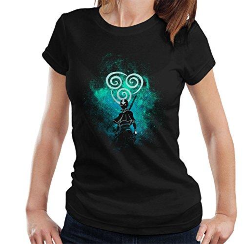 Avatar The Last Airbender Aang Silhouette Womens T-Shirt Black