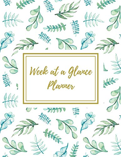 Week at a Glance Planner: Undated Daily and Weekly Planner -