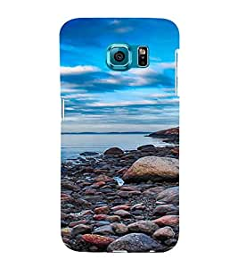 PrintVisa Pebble Beach Design 3D Hard Polycarbonate Designer Back Case Cover for Samsung Galaxy S6