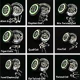9box/Pack kit di riscaldamento bobine bobine Prebuilt Alien/Clapton/HIVE/Tigre/quad/Flat Twisted/mix Twisted/Fused Clapton Coil diverse resistenze perfetto per Vape DIY