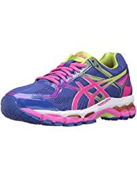 ASICS Women's Gel-Surveyor 5 Running Shoe, Blue/Pink Glow/Neon Lime, 6.5 M US