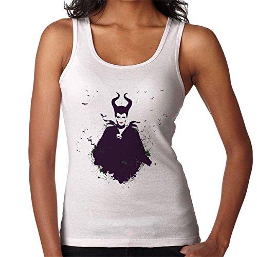 Spirit Maleficent Paint Splatter Disney Women's Vest white