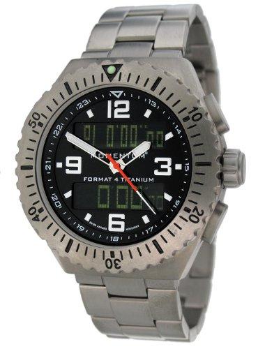 Momentum Format 4 Men's Quartz Watch with Black Dial Analogue - Digital Display and Grey Titanium Bracelet 1M-SP24B0