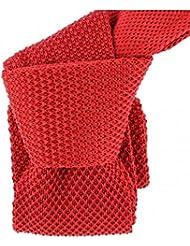 Clj Charles Le Jeune - Cravate Tricot. Rouge Cardinal