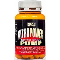 Stimulant l'oxyde nitrique Pre workout | Nitro Power Pump 1 paquets de 120 comprimés | GH | Augmenter la masse musculaire - performance accrue | Récupération musculaire | Formulation avec: Arginine acg Glutamine peptide Citrulline Taurine Ornithine AKG Vitamine C Caféine Maca Vitamines
