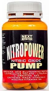 Stimulant l'oxyde nitrique Pre workout   Nitro Power Pump 1 paquets de 120 comprimés   GH   Augmenter la masse musculaire - performance accrue   Récupération musculaire   Formulation avec: Arginine acg Glutamine peptide Citrulline Taurine Ornithine AKG Vitamine C Caféine Maca Vitamines