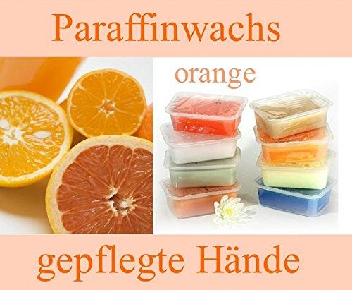 Paraffinblock 400g mit Duft -03 Orange