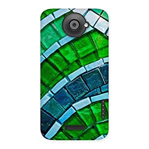 Impressive Green Footpath Back Case Cover for HTC One X