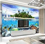 Rureng Photo Wallpaper Underwater World 3D Stereoscopic Large Mural Bathroom Living Room Tv Background 3D Wallpaper Mural-450X300Cm