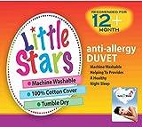 Love2Sleep LITTLE STARS ANTI ALLERGY SOFT HOLLOWFIBRE COT DUVET 100 X 120 TOG : 4.5 TOG