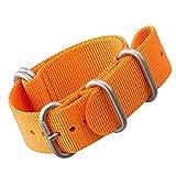 Zulu Nylon Uhrenarmband von ZULUDIVER® Gebürstete Zulu Schließen, Orange, 20mm