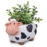 Best Gifts & Decor Garden Decors - Wonderland Cow Planter, pot, container of resin Review