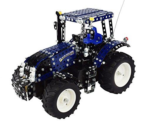 RC Auto kaufen Traktor Bild: Tronico 10057 - Metallbaukasten Traktor New Holland T8 mit Fernsteuerung, Profi Serie, Maßstab 1:16, 732-teilig, blau*