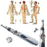 ACLBB L'agopuntura Penna Laser, 9 Velocità La Moxibustione Acupoint Massaggio, 3 Di Sanità (Senza Pila AA)