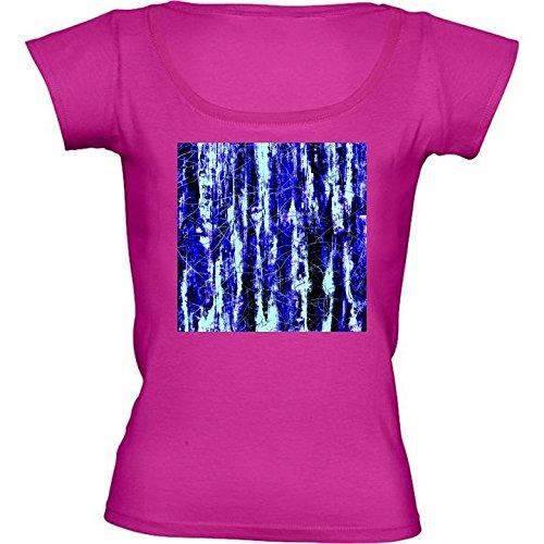 t-shirt-rose-fushia-pour-femme-col-rond-taille-l-bleu-peinture-de-grain-de-bois-noir-by-costasonline