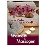 Plakat Wellness und Massagen DIN A1, Werbeplakat Poster Massage
