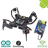 Freenove Quadruped Robot Kit with Remote Control | Arduino Robot Project | Spider Walking Crawling 4...
