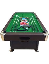 Mesa de billar juegos de billar pool 7 ft carambola FULL Medición de 188 X 96 cm mod. Green Season
