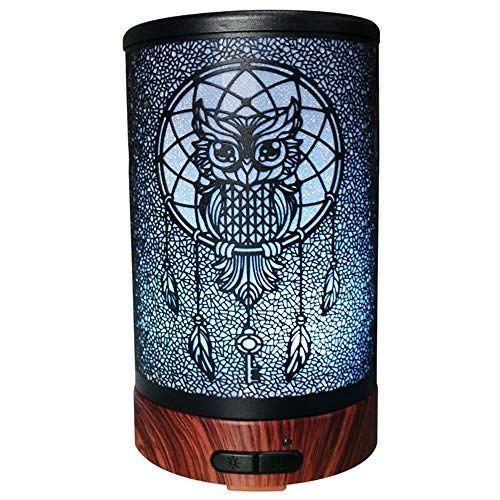 Xianxian88 Owl Creative Schmiedeeiserne Aromatherapie Maschine Bunte Nachtlicht Stumme Befeuchter Kann Die Stimmung Verbessern, Schlafen, Die Hautqualität Verbessern