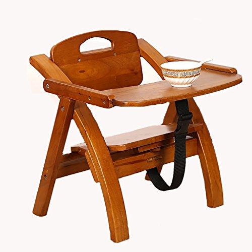 Hocker Faltbare Massivholz Baby Essen Esszimmerstuhl multifunktionale Portable Sicherheitsgurt Kind Stühle