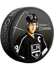 Sher-Wood Dustin marrón Star Player NHL de Los Angeles Kings Puck