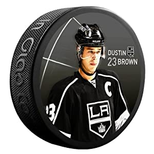 Sher-Wood Dustin Brown Los Angeles Kings Star Player NHL Puck