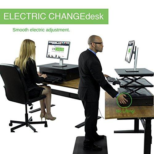 Uncaged ergonomía eléctrico changedesk conversión de escritorio de pie...