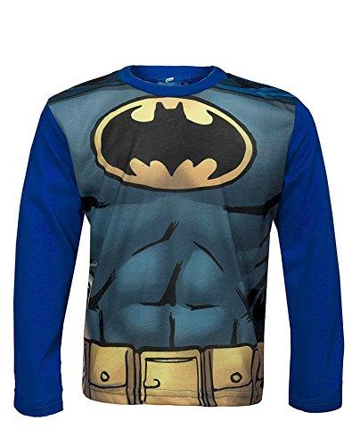 Offizielle Batman Jungen Kostüm-Druck-T-Shirt Top Alter von 3 bis 12 (Kostüme Batman Tshirt Kind)