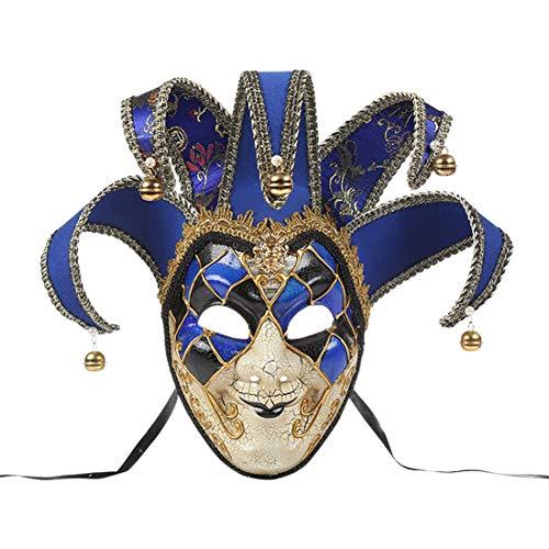 Zhhlaixing Masquerade Ball Mask Venezianische Jolly Couple Maske Mens Vintage griechischen Römischen Karneval Party Maske Kostümzubehör für Geburtstagsmodenschauen Halloween Weihnachten Karneval