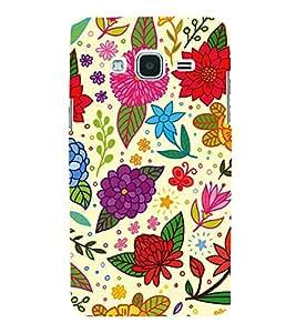 Fiobs Designer Back Case Cover for Samsung Galaxy J1 (6) 2016 :: Samsung Galaxy J1 2016 Duos :: Samsung Galaxy J1 2016 J120F :: Samsung Galaxy Express 3 J120A :: Samsung Galaxy J1 2016 J120H J120M J120M J120T (Flowers Stars Leaves Patterns Cool)