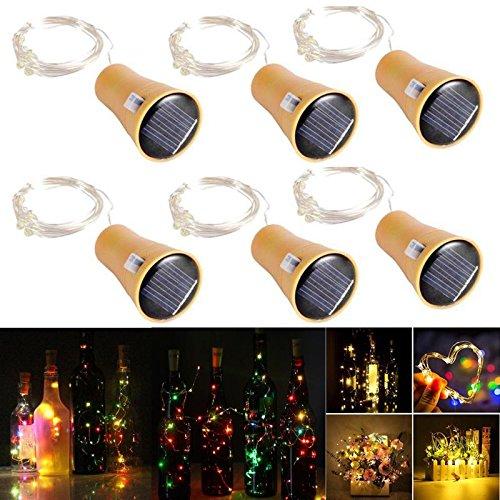 etriebene LED Lichtkette, Flaschenlicht, Weinflasche Lichtkette, Flaschen Korken LED-Kette, Deko Beleuchtung, Kupferdraht LED-Kette, 1 Meter 10 Lichter, bunt farben Licht (Einfache Und Schnelle Diy Halloween Kostüme)