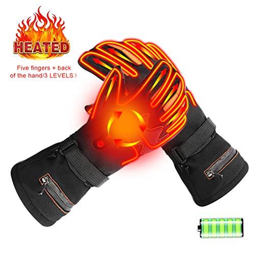 BovoYa Heizhandschuhe, Wiederaufladbare Thermische Beheizte Handschuhe Handwärmer Elektrische Batterie Handschuhe für Freien Camping Wandern