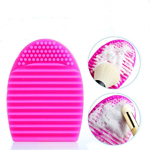 Neverland Maquillage Cleaner Brosse cosmetique Pinceau Poudre silicone outil Rose Rouge