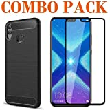 ADRY 5D Tempered Glass & Zebra Back Cover_Combo Pack_ Premium Quality Screen Guard And Soft Case Cover For Huawei Honor 8X